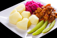 картошки meatballs sauce томат Стоковое Изображение RF
