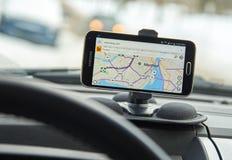 Карты Бинга GPS Стоковые Изображения RF