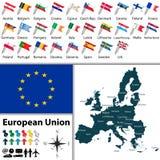 Карты Европейского союза Стоковое Изображение
