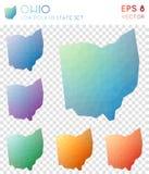 Карты Огайо геометрические полигональные, мозаика вводят нас в моду бесплатная иллюстрация