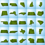 Карты штата США установили II Стоковое Изображение RF