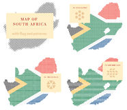 Карты Южной Африки Стоковое Изображение RF