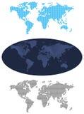 Карт-Иллюстраци-карты мира Стоковая Фотография