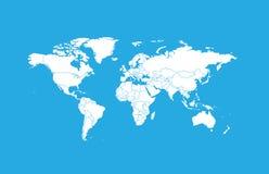 Карт-страны мира стоковое фото