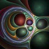 карусель фрактали 3d Стоковое фото RF