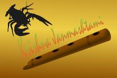 Карцинома морского пехотинца реки Krishna Janmashtami Деревянная труба Стоковое Изображение RF