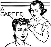 Карьера в парикмахерских услугах иллюстрация штока