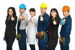 карьеры различные дают людям 6 больших пальцев руки Стоковые Фото