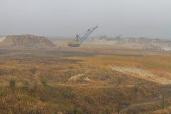 Карьер глины в тумане Стоковое Изображение RF