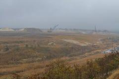 Карьер глины в тумане Стоковая Фотография RF