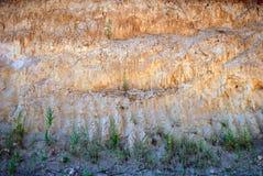 Карьер глины желтой глины в временени Стоковое Изображение