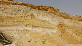 Карьер и геология утеса песчаника Стоковая Фотография
