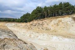 Карьер песка территории Стоковая Фотография