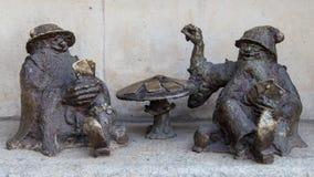 Карлики крупье в Wroclaw Стоковые Фото