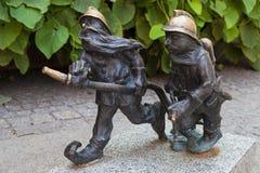 Карлики пожарных в Wroclaw Стоковые Изображения RF