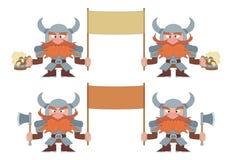 Карлики с знаменами, комплектом Стоковое Изображение RF
