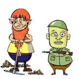 Карлик и солдат Стоковые Фотографии RF
