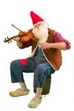 Карлик сада с скрипкой Стоковые Фотографии RF