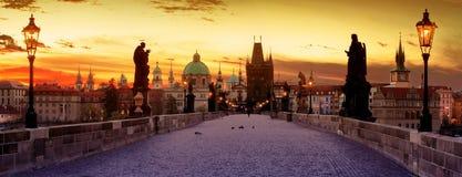 Карлов мост в Праге Стоковая Фотография