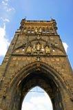 Карлов мост сторожевой башни в Праге Стоковое Изображение