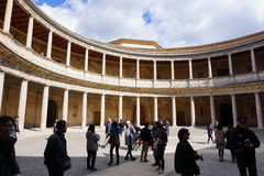 Карл V дворец, Альгамбра, Гранада, Испания стоковое фото