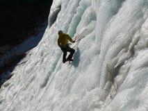 Касание горы озера лед стоковое изображение