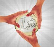 касание монетки Стоковые Фотографии RF