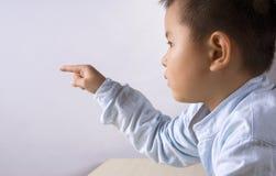 Касание ребенка Стоковые Фото