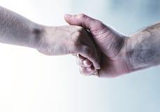 касание рук предпосылки Стоковая Фотография RF