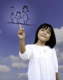касание семьи детей стоковые изображения