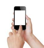 касание экрана мобильного телефона Стоковое Фото