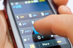 касание экрана телефона стоковая фотография