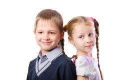 Касаться стойки 2 детей Стоковое Изображение RF