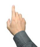 касатьться руки бизнесмена Стоковая Фотография RF