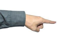 касатьться руки бизнесмена Стоковая Фотография