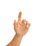 касатьться экрана руки Стоковое Изображение RF