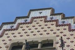 Каса Ametller, модернистское здание конструировала Josep Puig Стоковое Изображение