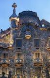 Каса Batllo, архитектура Gaudi, Eixample, Барселона, Испания Стоковые Фото