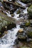 Каскадируя водопад в горах голубого Риджа стоковые фото