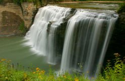 каскадируя водопад стоковые изображения