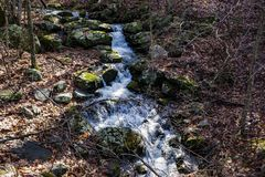 Каскадируя одичалый поток горы - 2 Стоковое Изображение RF