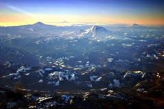 каскады над восходом солнца Стоковое Фото