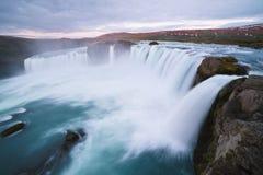 Каскад Godafoss водопада, Исландия стоковое изображение rf