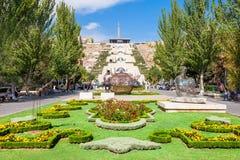 Каскад, Ереван стоковая фотография rf