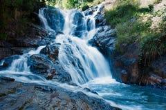 Каскадируя водопад в лесе Стоковые Фото