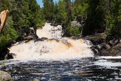 Каскадируя речные пороги реки Manitou Стоковое Изображение RF