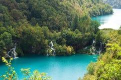 Каскады водопада Milanovac сверху Стоковые Изображения RF