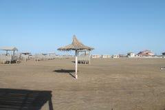 Каспийское море Пляж покинули Осень Стоковые Изображения RF