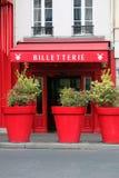 Касса румян Moulin в Париже Франции стоковое фото