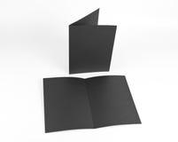 Кассета, буклет, открытка, визитная карточка или te модель-макета брошюры Стоковые Изображения RF